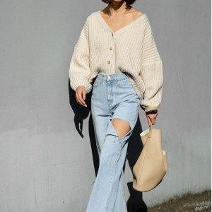 8.5折 封面款破洞牛仔裤$49最后一天:Oak+Fort 女士春季美衣上新,$23起收百搭款清新上衣