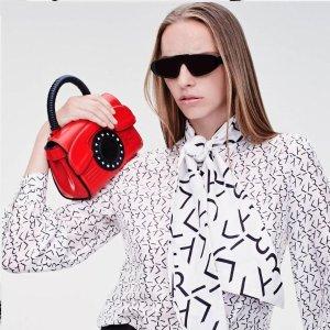 Karl Lagerfeld7折,100%小牛皮迷你手提包