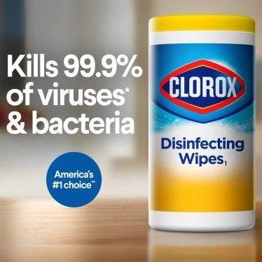 Clorox 消毒纸巾 75片装 清洁杀菌必备