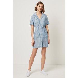 Laiche条纹衬衣裙