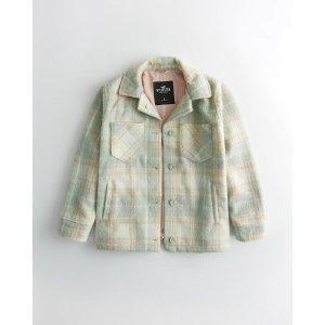 HollisterCozy Brushed Shirt Jacket