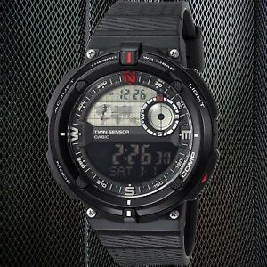 $66.61(原价$73.11)Casio 男士双传感器SGW600H休闲手表 户外必备