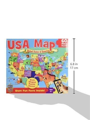 60片大块美国地图拼图