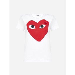 Comme des Garcons PlayHeart-logo 爱心T恤