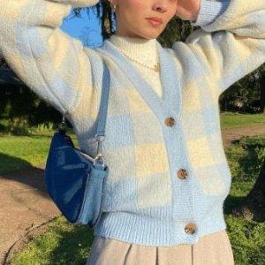 3折+叠9折!牛油果色开衫£25Monki 30镑以下美衣 少女感爆棚 穿上你就是最软萌的小可爱