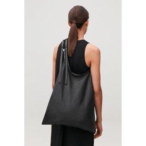 COS皮革购物袋