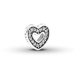 PANDORA Petite Locket Charm Captured Heart Sterling Silver|Jared
