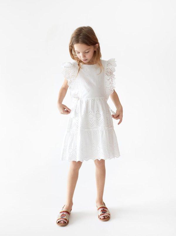 女童露背连衣裙
