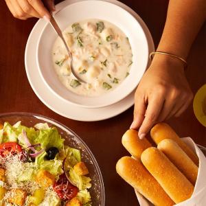 主菜仅需$5 共3款可选Olive Garden 进店消费任意主菜即可享受换购优惠