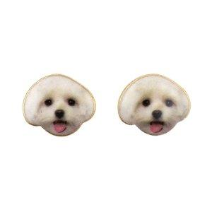Earring Puppy Maltese