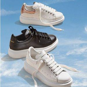 送$75GC+免邮+好礼Alexander McQueen 小白鞋专场,男女款式都有,码数齐全