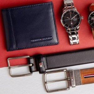 低至4.9折 男士皮带低至$29Tommy Hilfiger 精选手表、钱包、皮带热卖