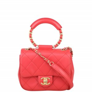 Chanel Circular Handle Small Flap Bag