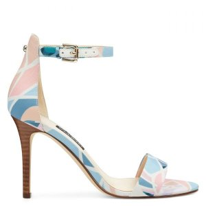 Nine WestMana Ankle Strap Sandals - Pastel Multi Fabric
