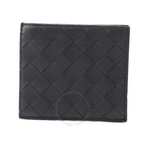 Bottega VenetaIntrecciato黑色编织钱包
