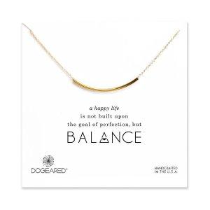 Dogearedbalance tube bar necklace