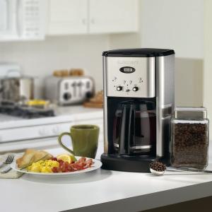 $89.98(原价$129.99) 醇香唤醒新一天近期好价:Cuisinart DCC-1200C 12杯量可编程咖啡机