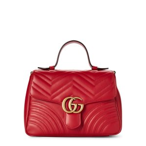 GucciHibiscus Red GG Marmont手提挎包