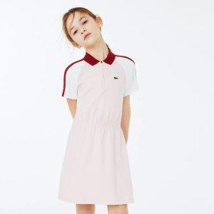Lacoste拼色polo裙