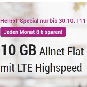 月租仅14.99欧元 免接通费o2 Allnet-Flat手机合同 包月上网10GB LTE+短信+电话