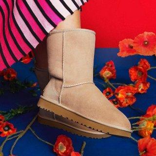 现价$78起(原价$160) 多色可选折扣升级:UGG 经典款女士雪地靴热卖 码全反季囤