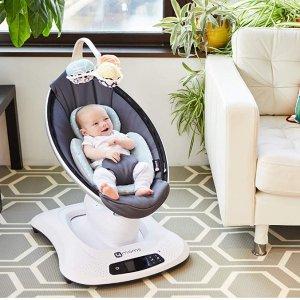 4moms mamaRoo 4 Baby Swing, high-tech Baby Rocker, Bluetooth Enabled