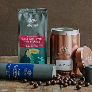 满€70赠价值€20咖啡组合Whittard 百年英式茶庄全场热促 热巧咖啡也很赞哦