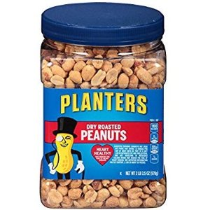 $3.98($4.42) Planters Peanuts, Dry Roasted & Salted, 34.5 Ounce