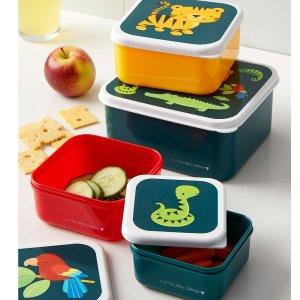 丛林小动物儿童餐盒4件套