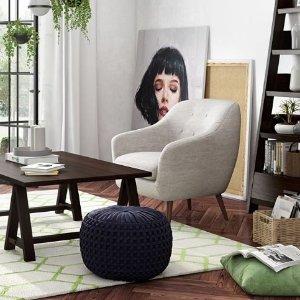 全场8折+额外9.5折+免邮最后一天:Simpli Home 全场高品质家具折上折热卖