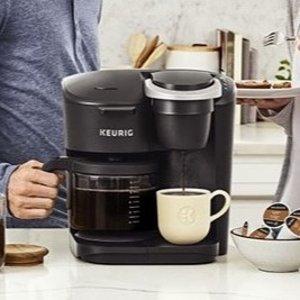 $149.99(原价$249.99)Keurig K-Duo 单杯胶囊+12杯咖啡壶 二合一咖啡机