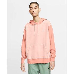 Nike橘子拼色卫衣