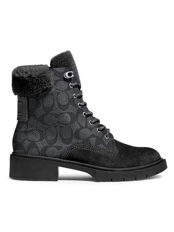 毛毛马丁靴
