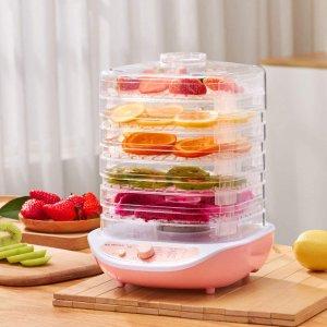 低至7.5折 仅37.69收封面粉色款Amazon 家用食品脱水机 真正的无添加果干、肉干动手自己做