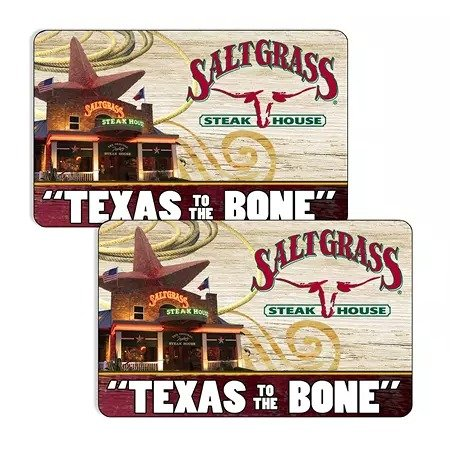 Saltgrass Steakhouse (Landry's) $50礼卡 两张+额外$20共$120