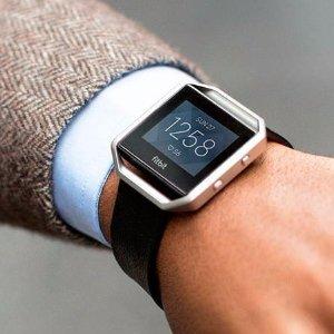 $99.50 低价健身表Fitbit Blaze 心率监测智能运动手表 蓝色大小号可选
