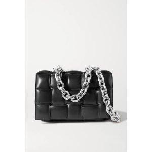 Bottega VenetaCassette chain-embellished padded intrecciato leather shoulder bag