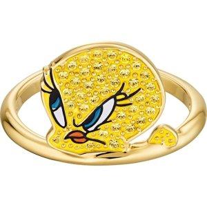 SwarovskiLooney Tunes Tweety Motif Ring, Yellow, Gold-tone plated by SWAROVSKI