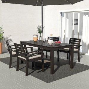 IkeaKLOVEN Table, outdoor, black-brown, 63x35 3/8