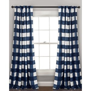 Triangle Home海军样式遮光窗帘