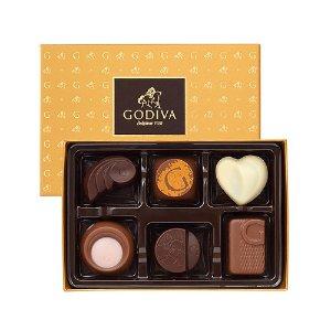Godiva金色礼盒6个装