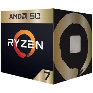 $229.99 送3个月XGPAMD Ryzen 7 2700X AMD50周年限量版 8核 AM4 处理器