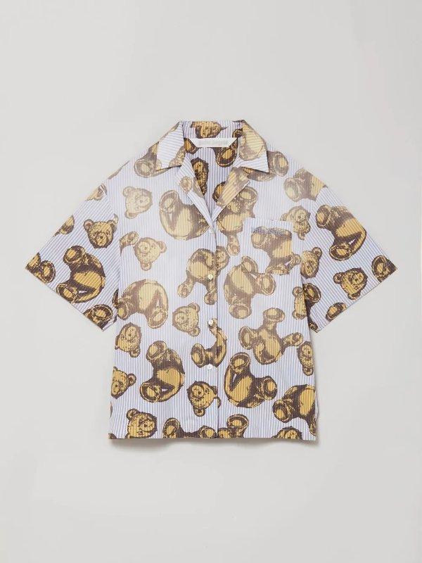 小熊复古衬衣