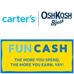 每满$25送$10 Fun CashOshKosh、Carter's、Skip Hop 推出全新Fun Cash礼卡,有疑问的看过来