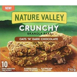 NATURE VALLEY 能量棒 燕麦黑巧克力味 210g