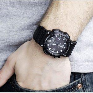 $65.06(原价$69.99) 大方实用Casio 卡西欧 AQ-S810W-1AV 男士光动能双显运动手表