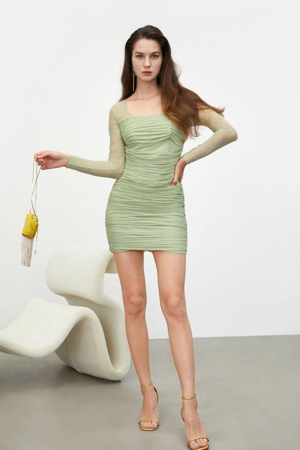 Anastasia Pistachio 连衣裙
