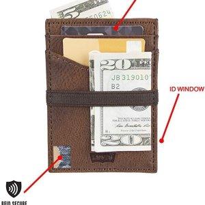 $11.99 4色可选Levi's 男士多功能卡包热卖 含RFID 仿盗刷芯片