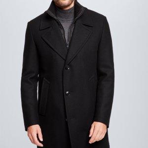 Strellson黑色羊毛大衣