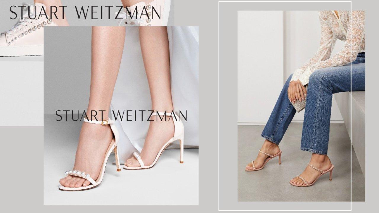 """细长直代名词Stuart Weitzman,除了5050,美到爆炸的""""珍珠鞋""""也一定要下单!"""